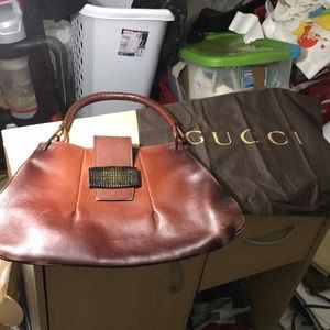 Gucci vintage leather hobo with dustbag